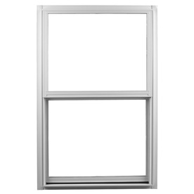 Ply Gem 1500 Series Aluminum Double Pane Single Strength New Construction Single Hung Window (Rough Opening: 24-in x 48-in; Actual: 23.25-in x 47.25-in)