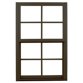Ply Gem 1500 Series Aluminum Double Pane Single Strength New Construction Single Hung Window (Rough Opening: 36-in x 52-in; Actual: 35.25-in x 51.25-in)