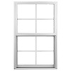 Ply Gem 37-in x 50-5/8-in 1500 Series Aluminum Double Pane New Construction Single Hung Window