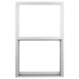 Ply Gem 1500 Series Aluminum Double Pane Single Strength New Construction Single Hung Window (Rough Opening: 37-in x 63-in; Actual: 36-in x 62-in)