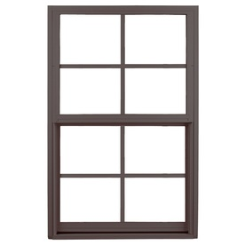 Ply Gem 1500 Series Aluminum Double Pane Single Strength New Construction Single Hung Window (Rough Opening: 37-in x 38.375-in; Actual: 36-in x 37.375-in)