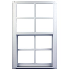 Ply Gem 1600 Series 1600 Aluminum Double Pane Single Strength New Construction Single Hung Window (Rough Opening: 36-in x 36-in; Actual: 35.25-in x 35.25-in)