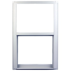 Ply Gem 1600 Series 1600 Aluminum Double Pane Single Strength New Construction Single Hung Window (Rough Opening: 36-in x 48-in; Actual: 35.25-in x 47.25-in)