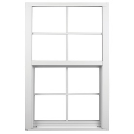 Ply Gem 1600 Series 1600 Aluminum Double Pane Single Strength New Construction Single Hung Window (Rough Opening: 37-in x 50.625-in; Actual: 36-in x 49.625-in)