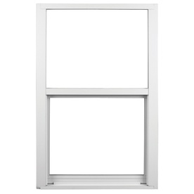 Ply Gem 1600 Series 1600 Aluminum Double Pane Single Strength New Construction Single Hung Window (Rough Opening: 26.5-in x 38.375-in; Actual: 25.5-in x 37.375-in)