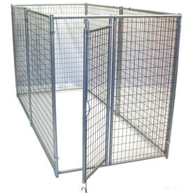 Shop options plus 10 ft x 5 ft x 6 ft outdoor dog kennel for Outdoor dog kennel kits