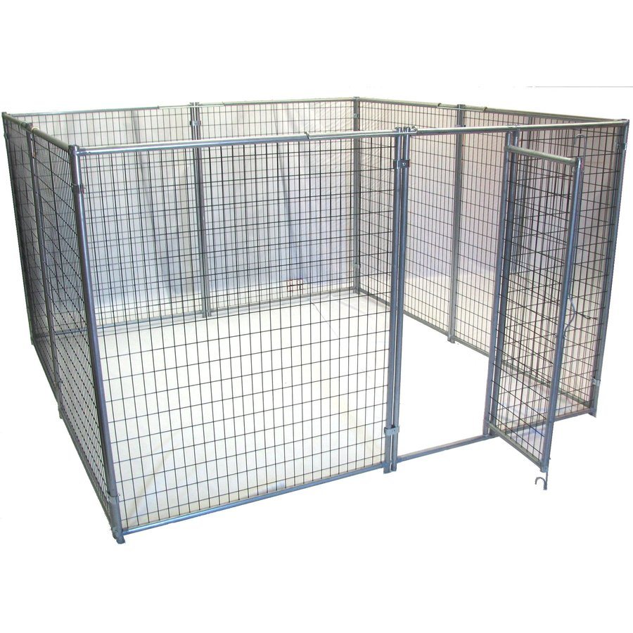 Shop options plus 10 ft x 10 ft x 6 ft outdoor dog kennel for Outdoor dog kennel kits