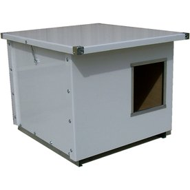 Options Plus 2-ft x 2.5-ft x 2.41-ft Metal Dog House