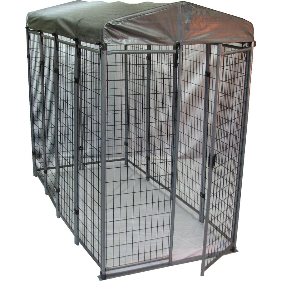 Shop options plus 8 ft x 4 ft x 6 ft outdoor dog kennel for Outdoor dog kennel kits