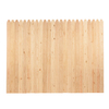 6-ft x 8-ft Spruce Stockade Wood Fence Panel