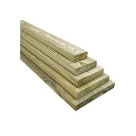 Severe Weather #2 Pressure Treated Lumber (Common: 1 x 8 x 12-ft; Actual: 3/4-in x 7-1/4-in x 144-in)