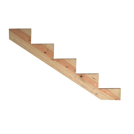 Severe Weather 5-Step Alkaline Copper Quat Treated Deck Stair Stringer