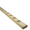 Severe Weather ACQ Alkaline Copper Quat Treated Deck Railing (Common: 2-in x 4-in x 6-ft; Actual: 1-1/2-in x 3-5/8-in x 6-ft)