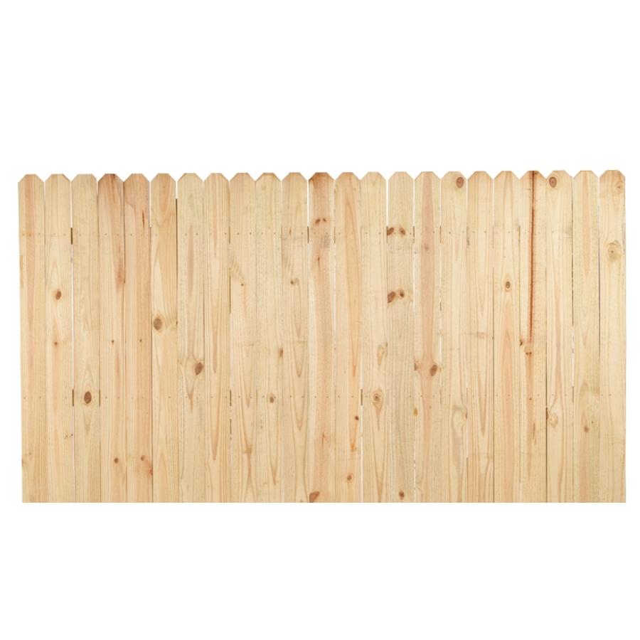 shop 4 ft x 8 ft pine stockade wood fence panel at. Black Bedroom Furniture Sets. Home Design Ideas