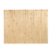 6-ft x 8-ft Pine Stockade Wood Fence Panel