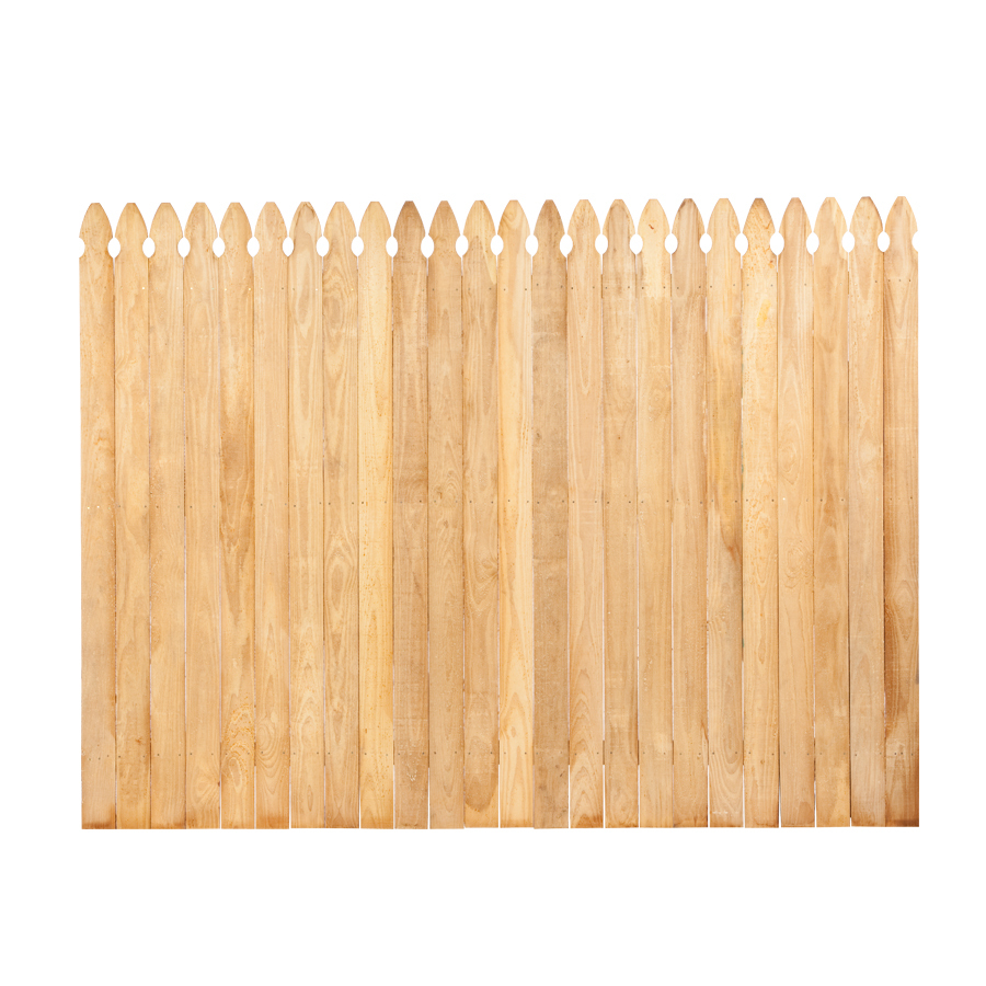 Shop Pine Gothic Pressure Treated Wood Fence Panel Common