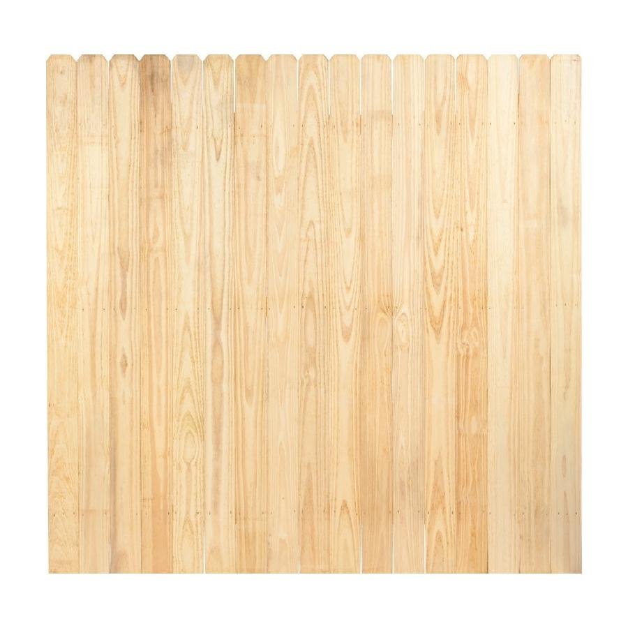 shop pine dog ear pressure treated wood fence privacy. Black Bedroom Furniture Sets. Home Design Ideas