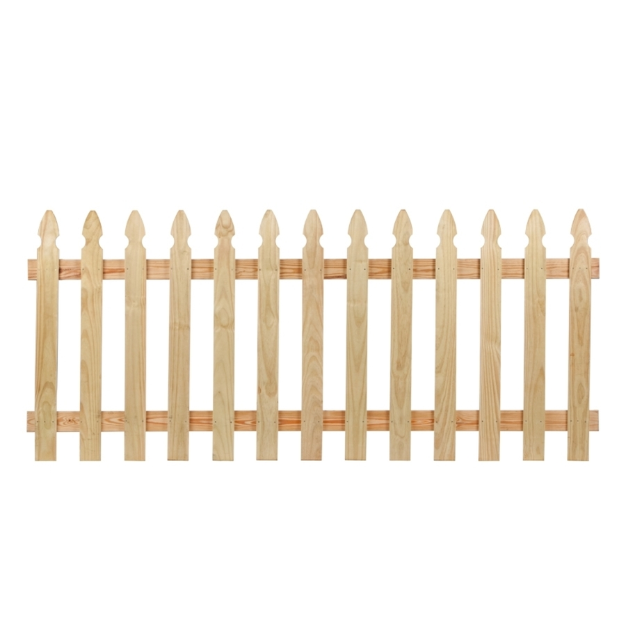 Shop Pine French Gothic Pressure Treated Wood Fence Picket Panel