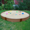 Frame It All 126-in x 126-in Brown Round Composite Sandbox