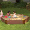 Frame It All 96-in x 96-in Brown Hexagon Composite Sandbox with Cover