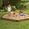 Frame It All 96-in x 96-in Brown Hexagon Composite Sandbox