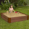 Frame It All 48-in x 48-in Brown Square Composite Sandbox with Cover