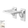Ponte Giulio USA Glossy Ivory Plastic Wall Mount Shower Seat