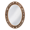 Tyler Dillon Suzanne 27-in x 37-in Antique Bronze Beveled Oval Framed Venetian Wall Mirror
