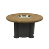 Outdoor Greatroom Company Colonial 48-in W 80,000-BTU Mocha Faux Stone Propane Gas Fire Table