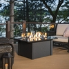 Outdoor Greatroom Company 36-in W 65,000-BTU Absolute Black Metal Liquid Propane Fire Table
