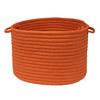 Colonial Mills 14-in W x 14-in D x 10-in H Rust Plastic Basket