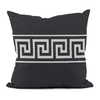 E BY DESIGN 18-in W x 18-in L Black Square Indoor Decorative Pillow