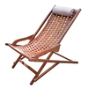 Outdoor Interiors Brown Umber Stain Eucalyptus Folding Patio Conversation Chair