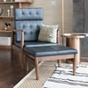 Fine Mod Imports Vod Black Accent Chair with Ottoman