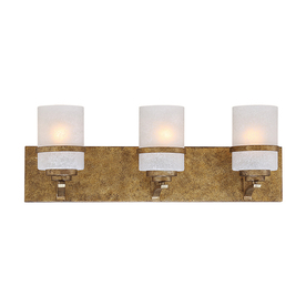 Shop Millennium Lighting 3 Light Benton Vintage Gold Bathroom Vanity Light At