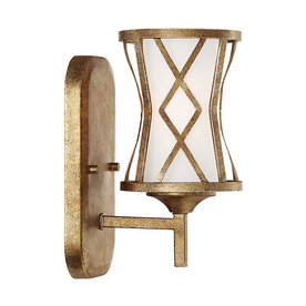 Shop Millennium Lighting 1 Light Lakewood Vintage Gold Bathroom Vanity Light