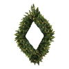 Christmas Central Diamond Shaped Pre-Lit Camden Fir Artificial Christmas Wreath with Warm White LED Lights