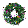 Christmas Central Festive Green 19-in Pre-Lit Indoor Tinsel Artificial Christmas Wreath