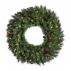 Christmas Central 60-in Pre-Lit Indoor Pine Artificial Christmas Wreath with Clear Incandescent Lights