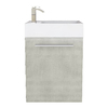 Cutler Kitchen & Bath Boutique Linen Integral Single Sink Bathroom Vanity with Cultured Marble Top (Common: 18-in x 10-in; Actual: 18-in x 10-in)