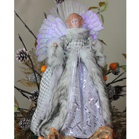 Northlight NL00926 Angel in Garnet Coat Christmas Tree Topper 16