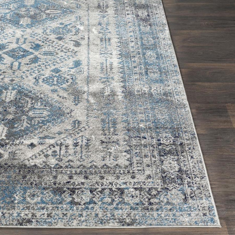 Cosmos V3241PRAN24SH Premium Carpet Anthracite Tailored Floor Mat with Blue Cloth Binding with Superior Heelpad