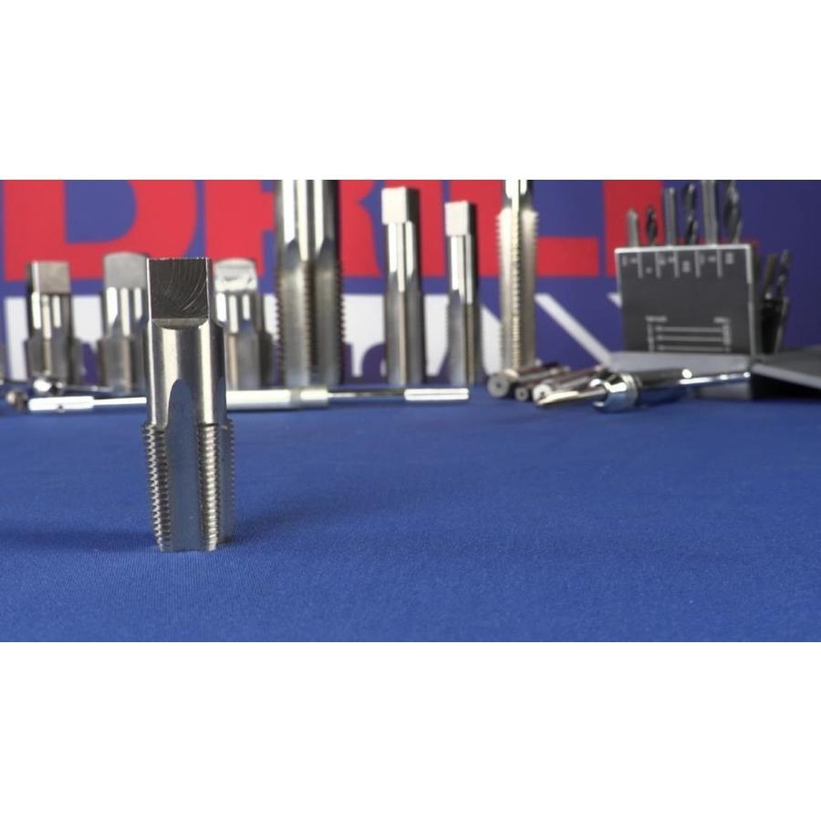 1//8, 1//4, 3//8, 1//2 and 3//4 POU Series Plastic Pouch Case POUCSNPT5 5 Piece NPT Pipe Tap Set Drill America