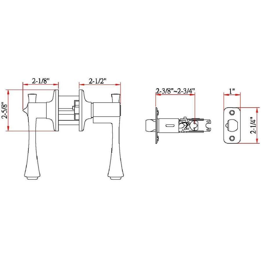 Design House 755439 Ironwood Universal Latch Entry Door Handle Satin Nickel Adjustable Backset