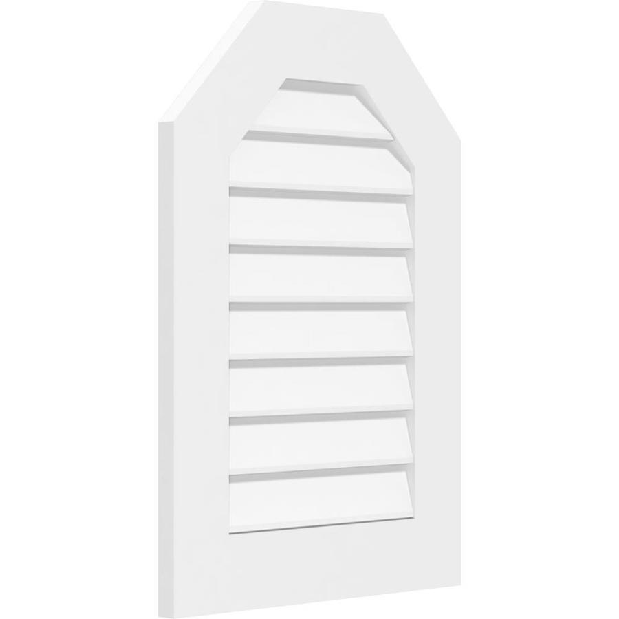 6//12-52 W x 13 H Inch Ekena Millwork GVPTR52X1303SN Triangle Surface Mount PVC Gable Vent Factory Primed White Pitch
