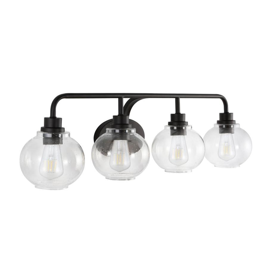 Traditional 4 Light Bathroom Vanity Light Oil Rubbed Bronze Finish with White Glass Shade by Y D/écor Transitional Y Decor L4090-4V-ORB Modern Brown Oil Rubbed Bronze