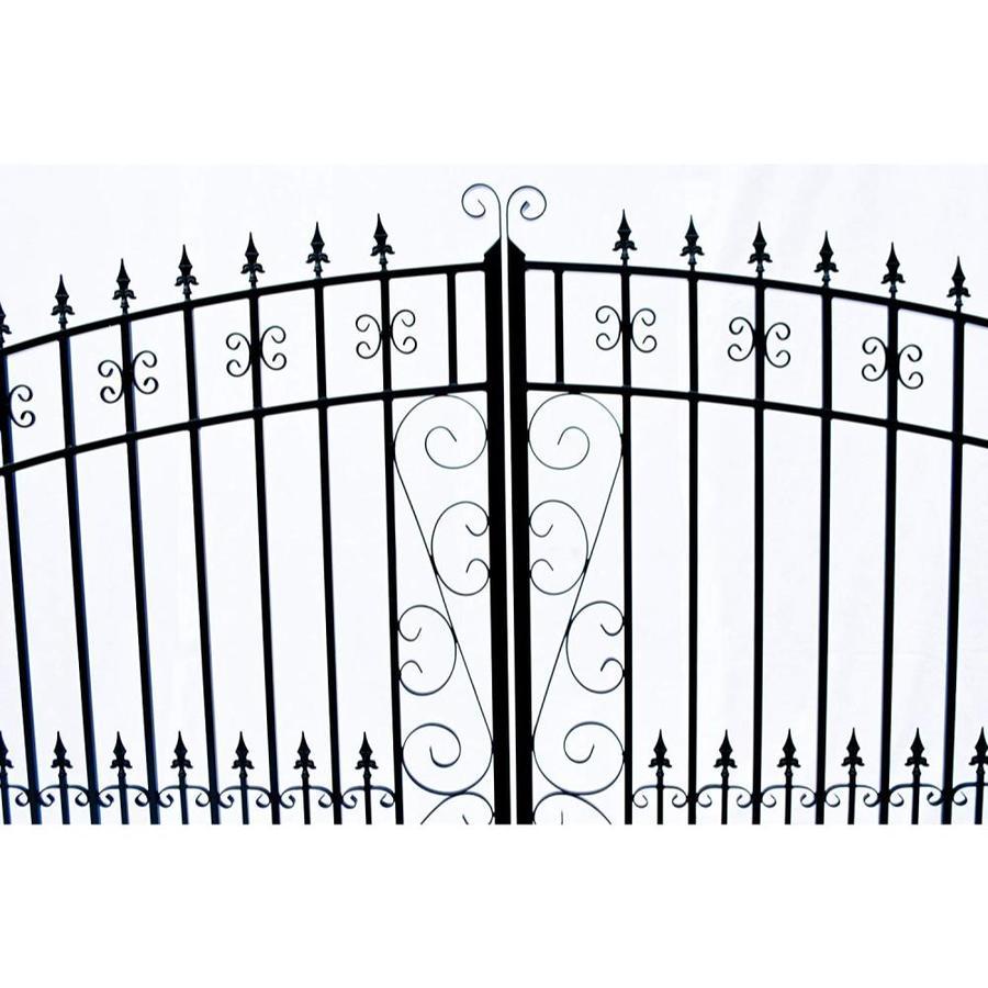 ALEKO Venice Style Dual Swing Galvanized Steel Driveway Security Gate 12 feet