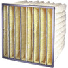 Flanders 8-Pack 24-in x 12-in x 26-in Bag Ready-to-Use Industrial HVAC Filter