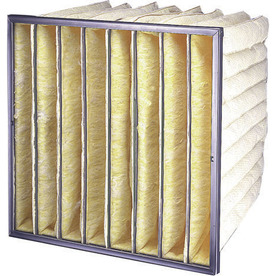 Flanders 4-Pack 20-in x 20-in x 12-in Bag Ready-to-Use Industrial HVAC Filter