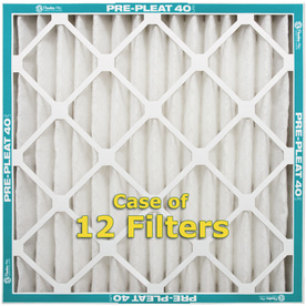 Flanders 12-Pack 16-in x 25-in x 2-in Pleated Air Filters
